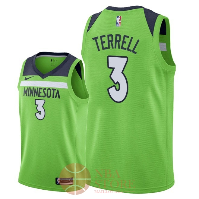 Classic Maillot NBA Nike Minnesota Timberwolves NO.3 Jared Terrell Vert Statement 2018