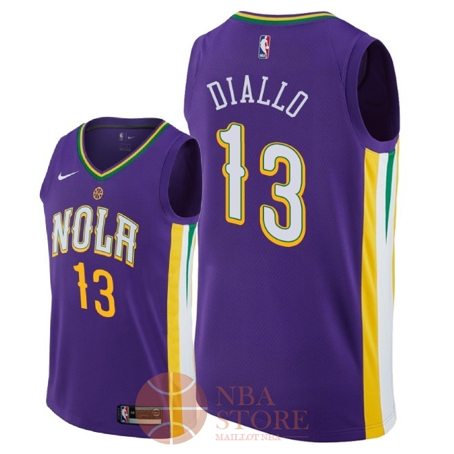 Classic Maillot NBA Nike New Orleans Pelicans NO.13 Cheick Diallo Nike Pourpre Ville 2018