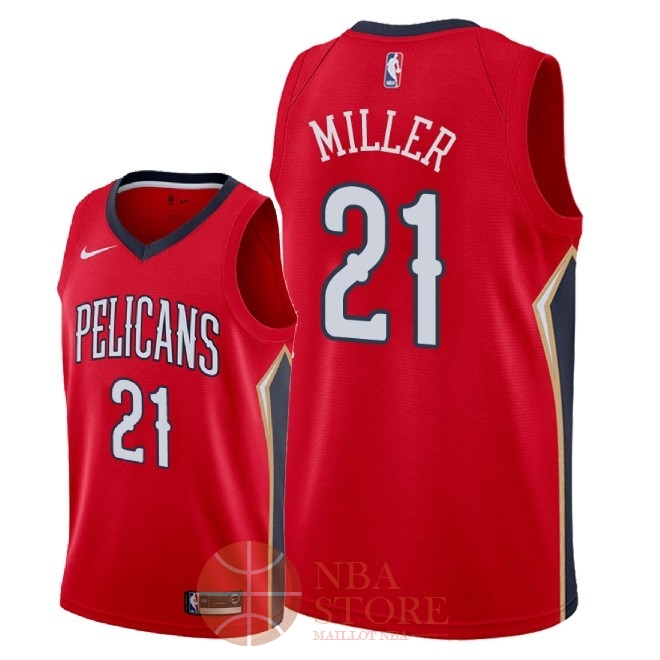 Classic Maillot NBA Nike New Orleans Pelicans NO.21 Darius Miller Rouge Statement 2018
