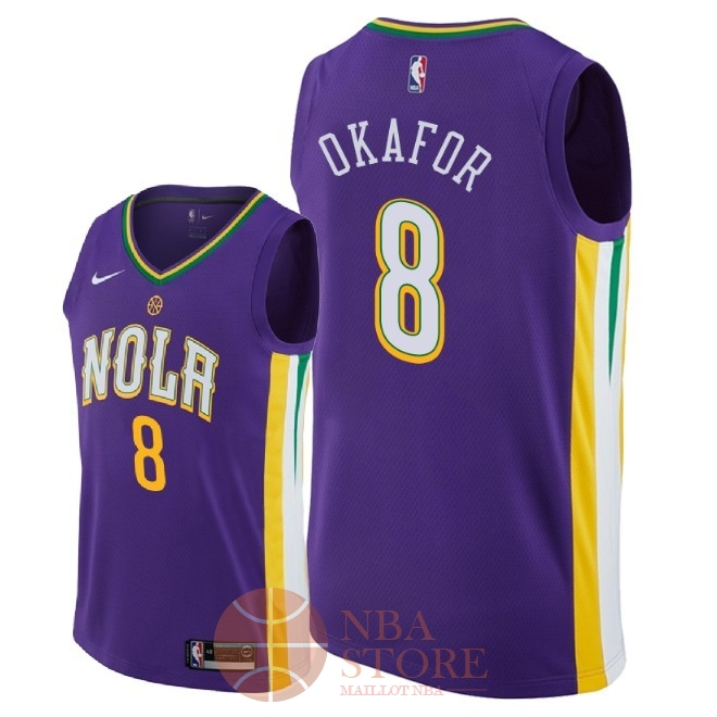 Classic Maillot NBA Nike New Orleans Pelicans NO.8 Jahlil Okafor Nike Pourpre Ville 2018