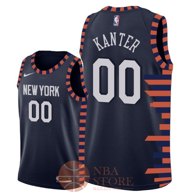 Classic Maillot NBA Nike New York Knicks NO.0 Enes Kanter Nike Marine Ville 2018-19