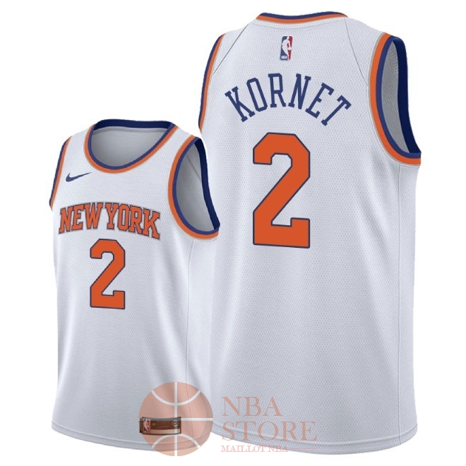 Classic Maillot NBA Nike New York Knicks NO.2 Luke Kornet Blanc Association 2018