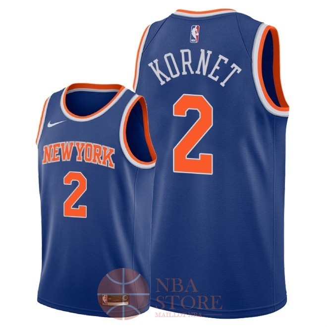Classic Maillot NBA Nike New York Knicks NO.2 Luke Kornet Bleu Icon 2018