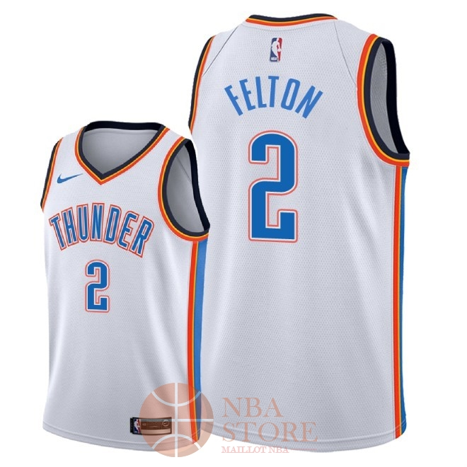 Classic Maillot NBA Nike Oklahoma City Thunder NO.2 Raymond Felton Blanc Association 2018