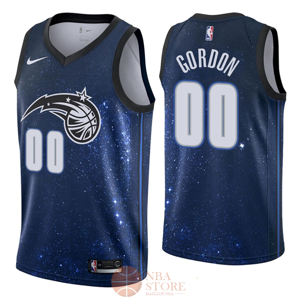 Classic Maillot NBA Nike Orlando Magic NO.0 Aaron Gordon Nike Marine Ville 2018