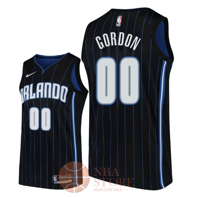 Classic Maillot NBA Nike Orlando Magic NO.0 Aaron Gordon Noir Statement 2018