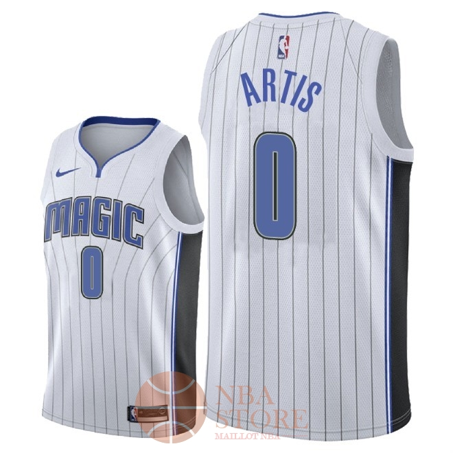 Classic Maillot NBA Nike Orlando Magic NO.0 Jamel Artis Blanc Association 2018