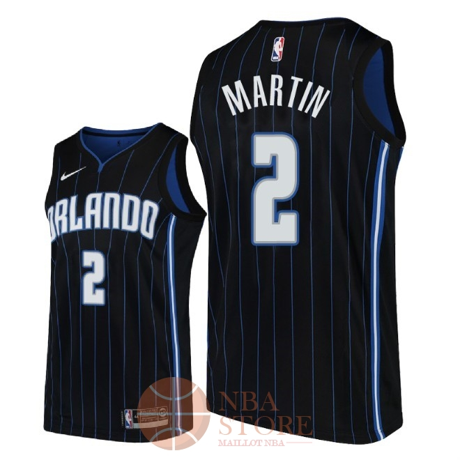 Classic Maillot NBA Nike Orlando Magic NO.2 Jarell Martin Noir Statement 2018-19
