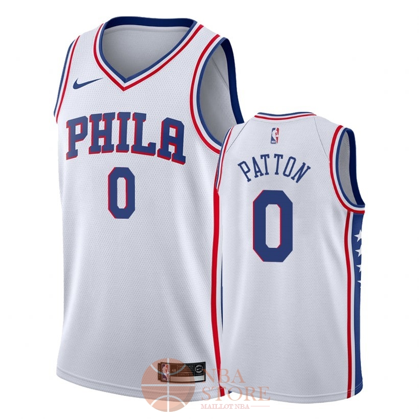 Classic Maillot NBA Nike Philadelphia Sixers NO.0 Justin Patton Blanc Association 2018
