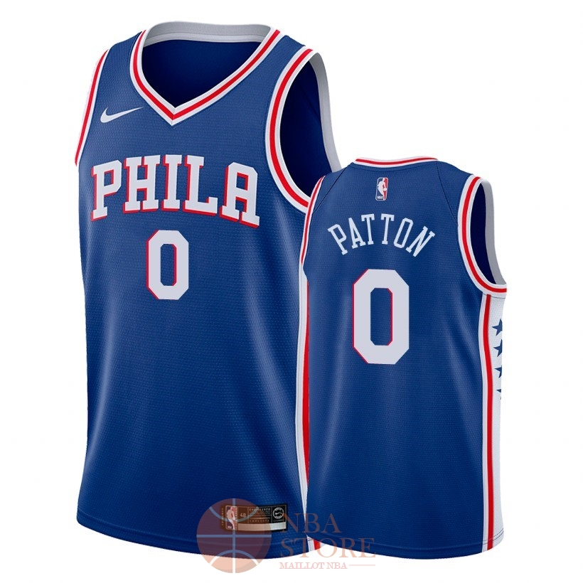 Classic Maillot NBA Nike Philadelphia Sixers NO.0 Justin Patton Bleu Icon 2018