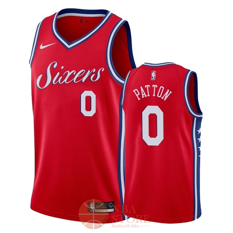 Classic Maillot NBA Nike Philadelphia Sixers NO.0 Justin Patton Rouge Statement 2018