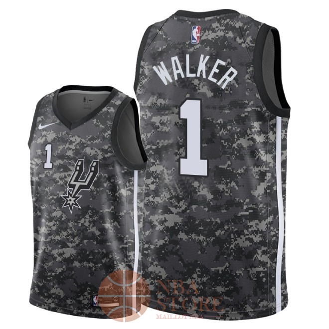Classic Maillot NBA Nike San Antonio Spurs NO.1 Lonnie Walker Nike Camouflage Ville 2018