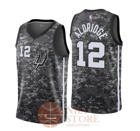 7e7ef7fe6b76c Classic Maillot NBA Nike San Antonio Spurs NO.12 LaMarcus Aldridge Nike  Noir Ville 2018