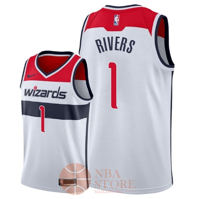 Classic Maillot NBA Nike Washington Wizards NO.1 Austin Rivers Blanc Association 2018