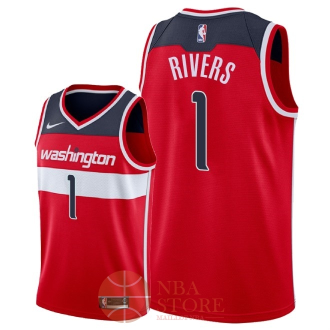 Classic Maillot NBA Nike Washington Wizards NO.1 Austin Rivers Rouge Icon 2018