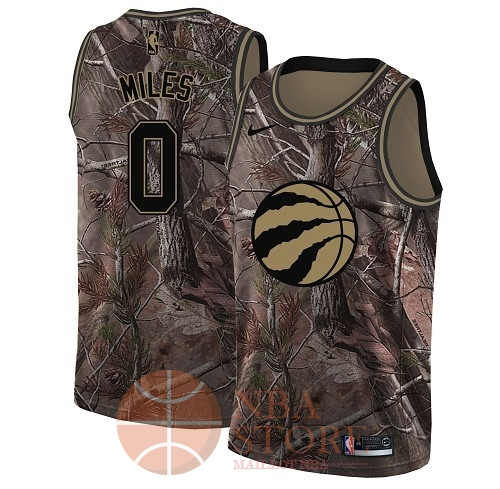 Classic Maillot NBA Toronto Raptors NO.0 C.J. Miles Camo Swingman Collection Realtree 2018