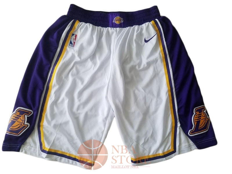 Classic Short Basket Los Angeles Lakers Nike Blanc 2018-19
