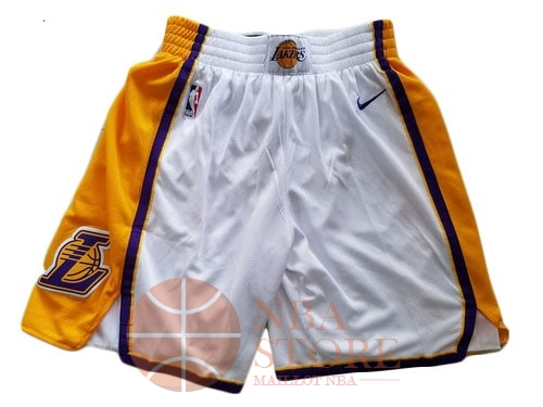 Classic Short Basket Los Angeles Lakers Nike Blanc 2018