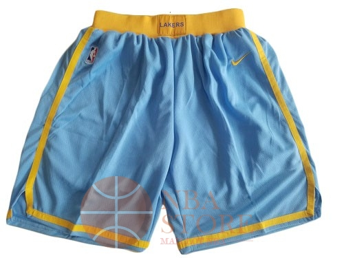 Classic Short Basket Los Angeles Lakers Nike Bleu 2018