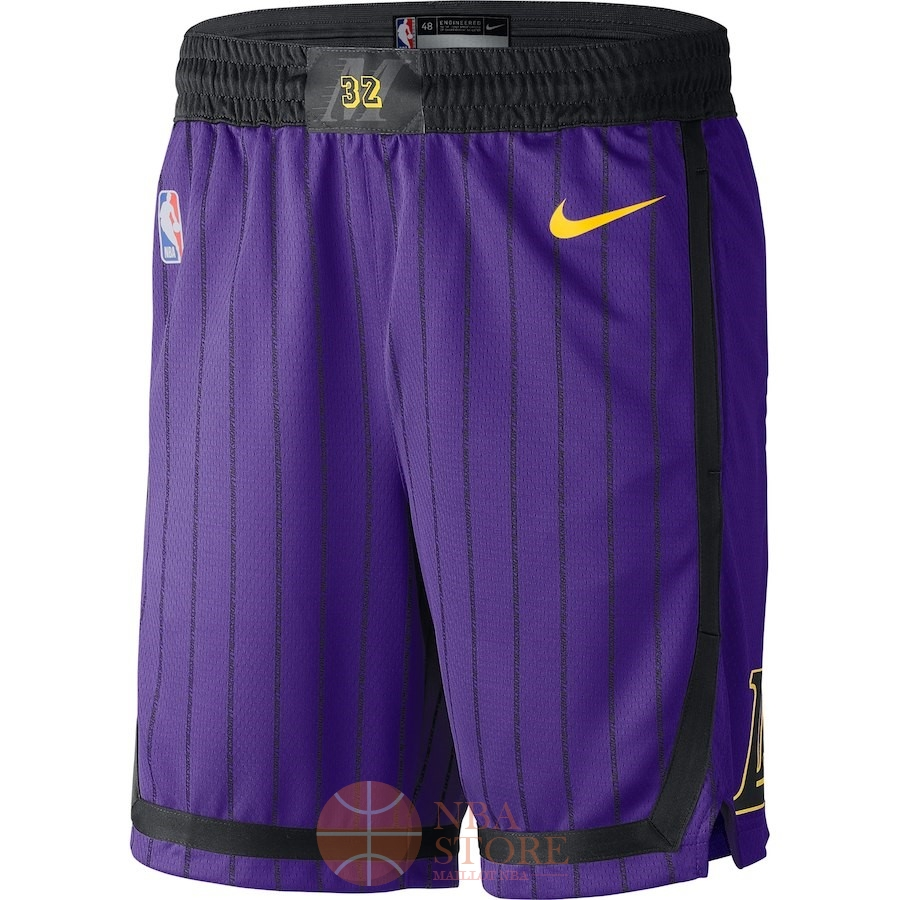 Classic Short Basket Los Angeles Lakers Nike Pourpre Ville 2018-19