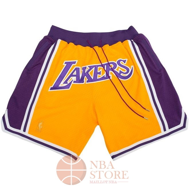 Classic Short Basket Los Angeles Lakers Nike Retro Jaune 2018