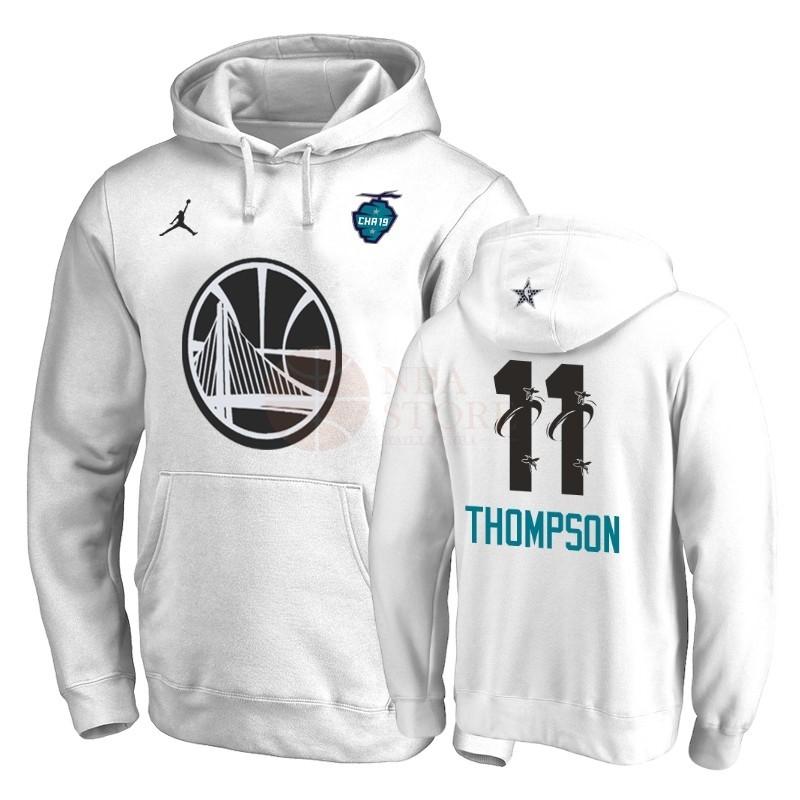 6181d6da53783 Classic Hoodies NBA 2019 All Star Golden State Warriors NO.11 Klay Thompson  Blanc