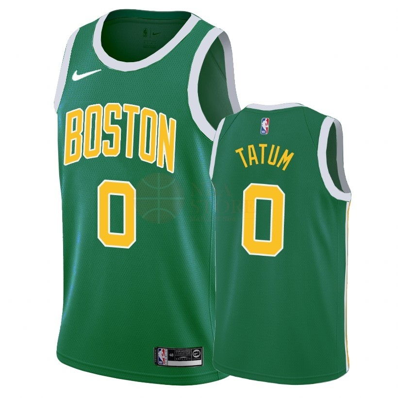 Classic Maillot Earned Edition Boston Celtics NO.0 Jayson Tatum Vert 2018-19
