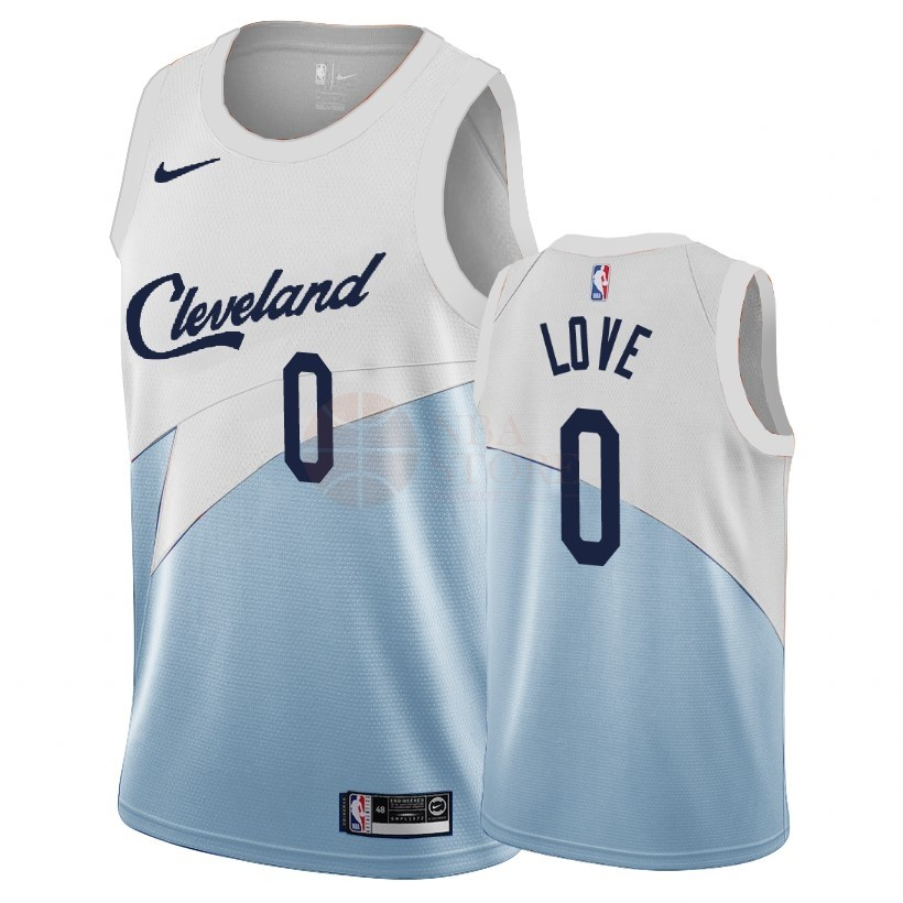 Classic Maillot Earned Edition Cleveland Cavaliers NO.0 Kevin Love Bleu 2018-19