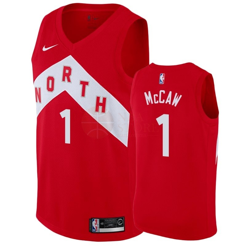 Classic Maillot Earned Edition Toronto Raptors NO.1 Patrick McCaw Rouge 2018-19