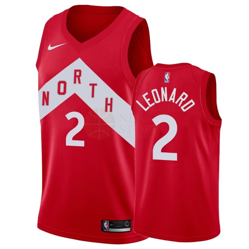 Classic Maillot Earned Edition Toronto Raptors NO.2 Kawhi Leonard Rouge 2018-19