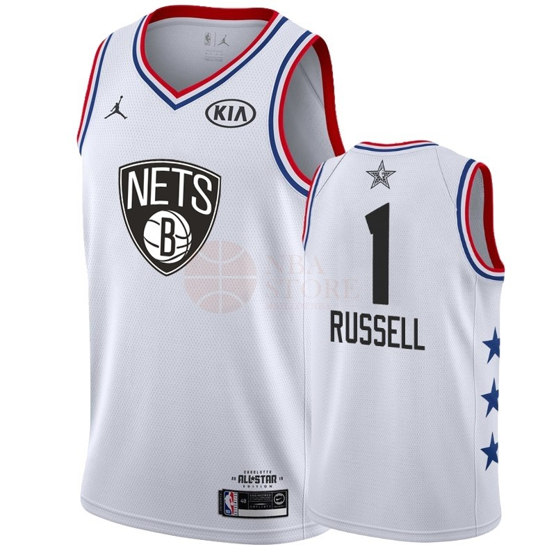 Classic Maillot NBA 2019 All Star NO.1 DAngelo Russell Blanc