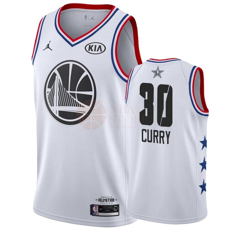 Classic Maillot NBA 2019 All Star NO.30 Stephen Curry Blanc