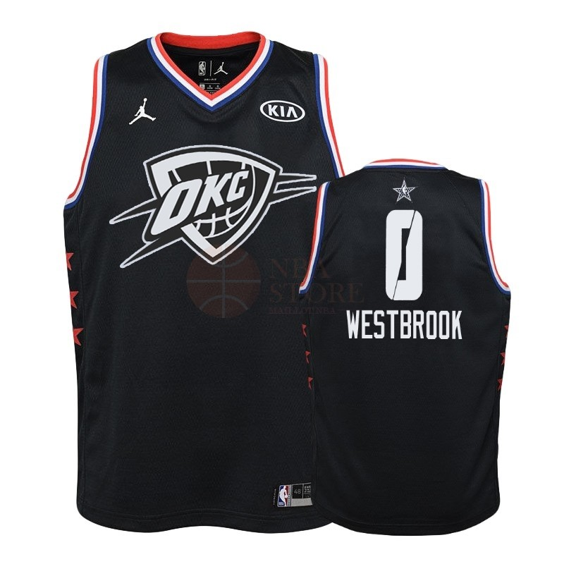 Classic Maillot NBA Enfant 2019 All Star NO.0 Russell Westbrook Noir