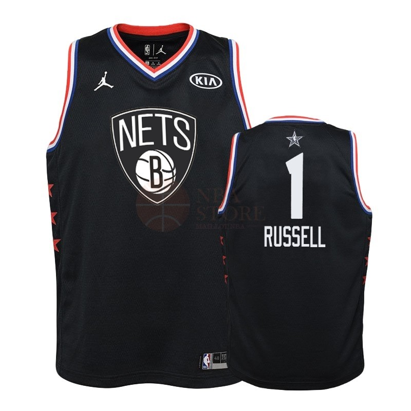 Classic Maillot NBA Enfant 2019 All Star NO.1 D'Angelo Russell Noir