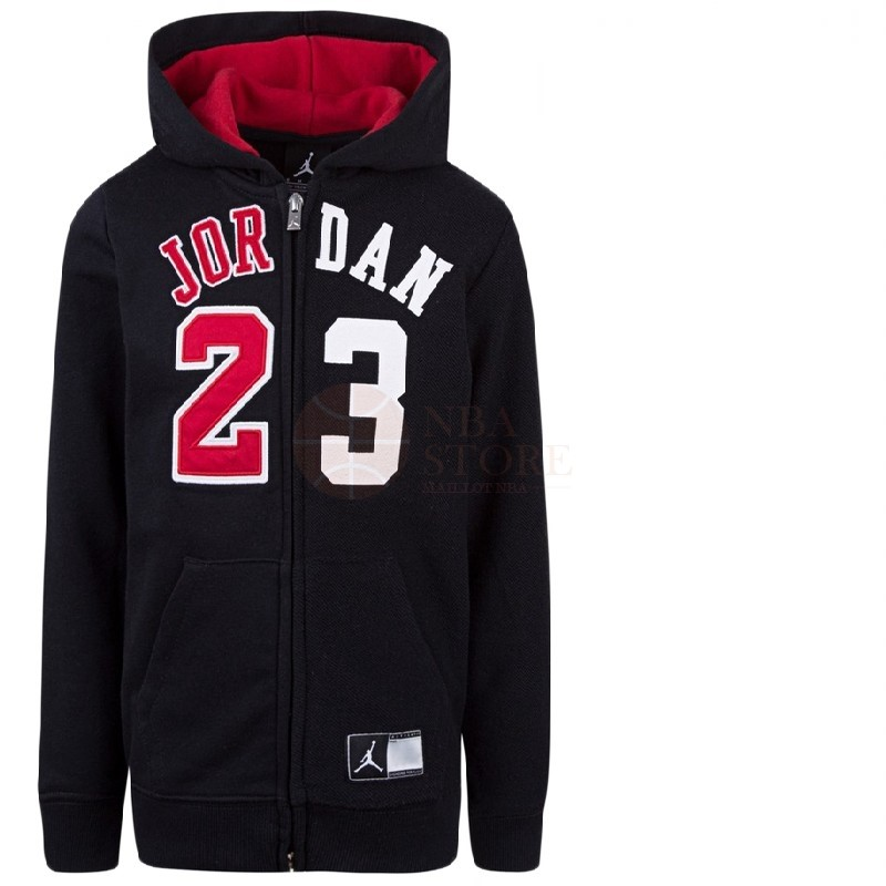 Classic Hoodies NBA Enfant Chicago Bulls NO.23 Michael Jordan Noir