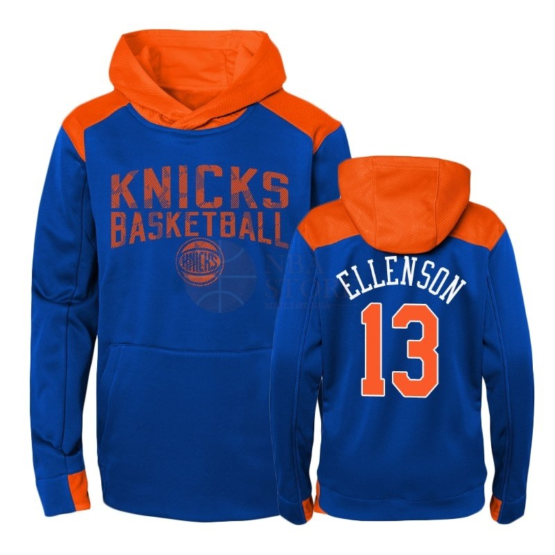 Classic Hoodies NBA Enfant New York Knicks NO.13 Henry Ellenson Bleu