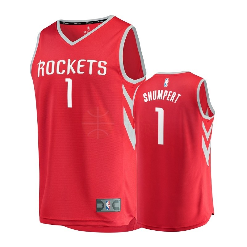 Classic Maillot NBA Enfant Houston Rockets NO.1 Iman Shumpert Rouge Icon