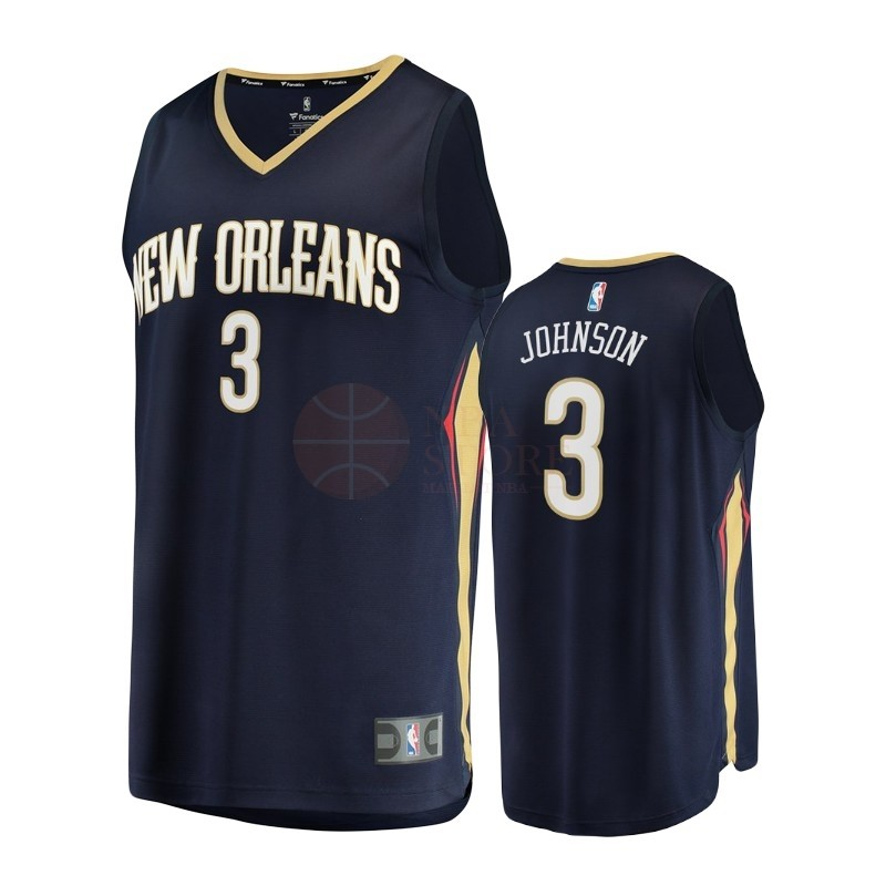 Classic Maillot NBA Enfant New Orleans Pelicans NO.3 Stanley Johnson Noir Icon