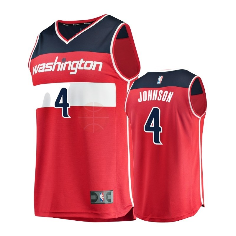 Classic Maillot NBA Enfant Washington Wizards NO.4 Wesley Johnson Rouge Icon
