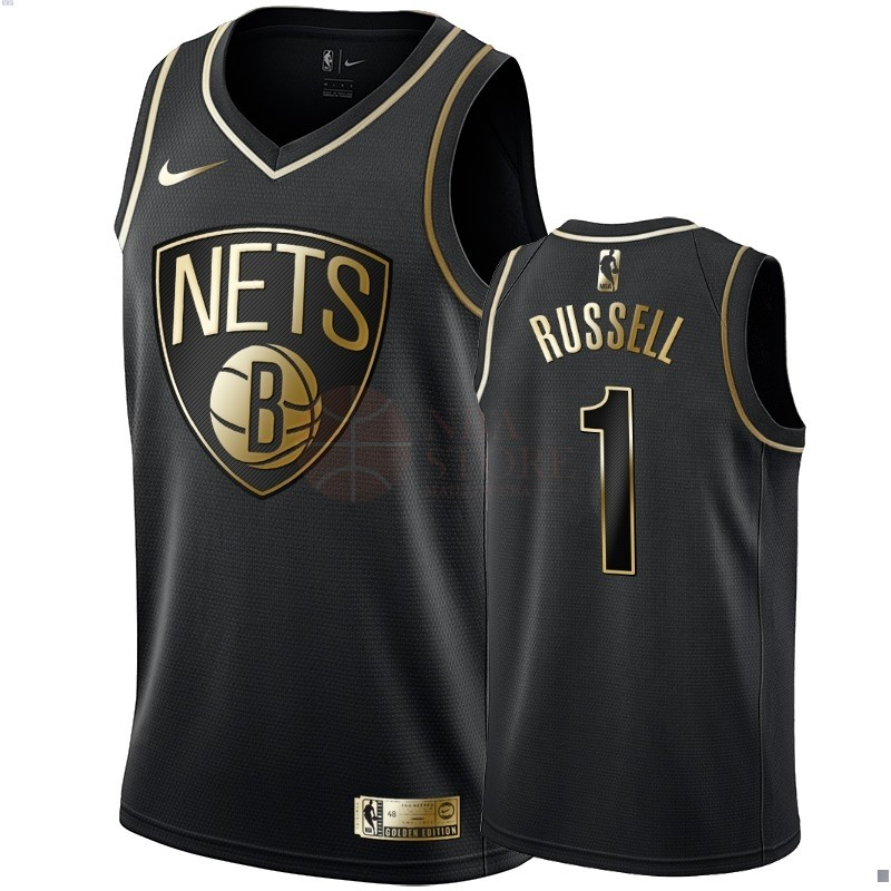 Classic Maillot NBA Nike Brooklyn Nets NO.1 D'Angelo Russell Or Edition