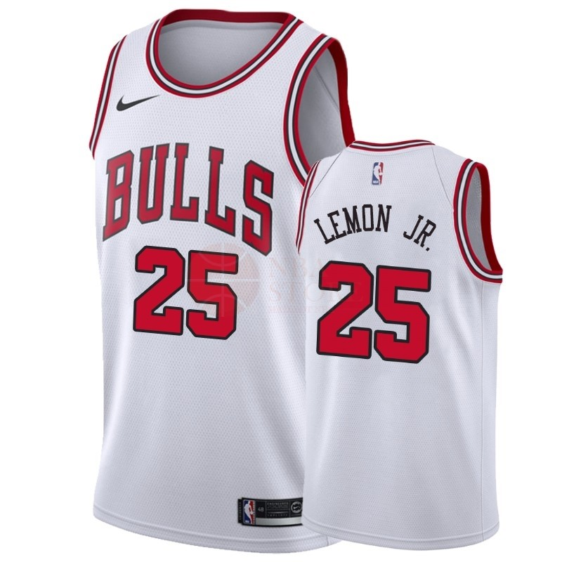 Classic Maillot NBA Nike Chicago Bulls NO.25 Walt Lemon Jr. Blanc Association 2018-19