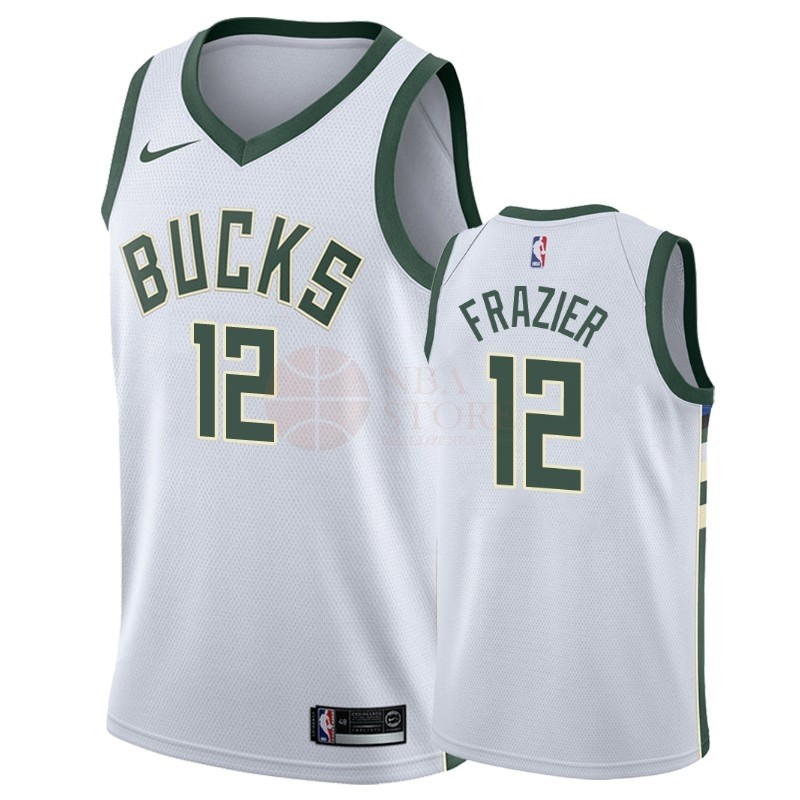 Classic Maillot NBA Nike Milwaukee Bucks NO.12 Tim Frazier Blanc Association 2018-19