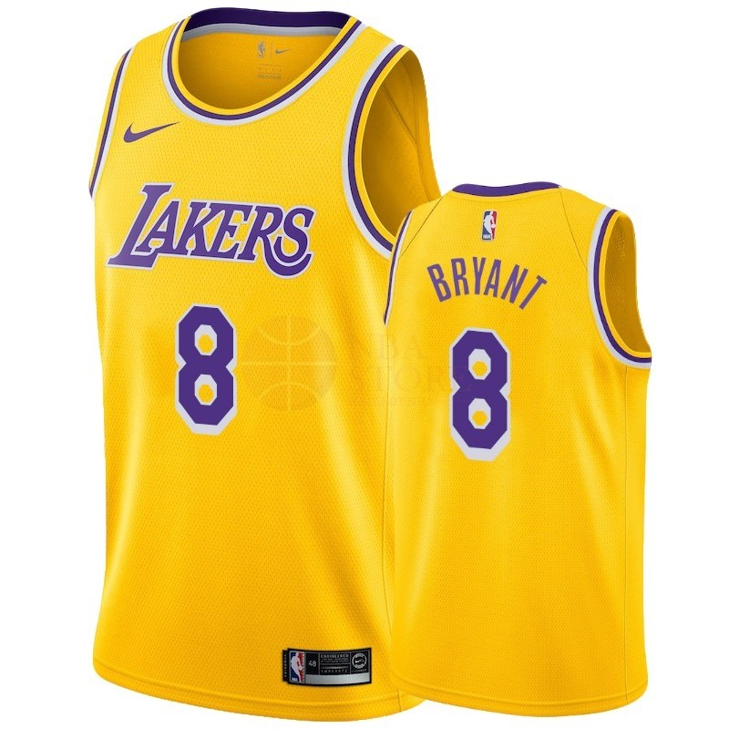 Classic Maillot NBA Nike Los Angeles Lakers NO.8 Kobe Bryant Jaune Icon