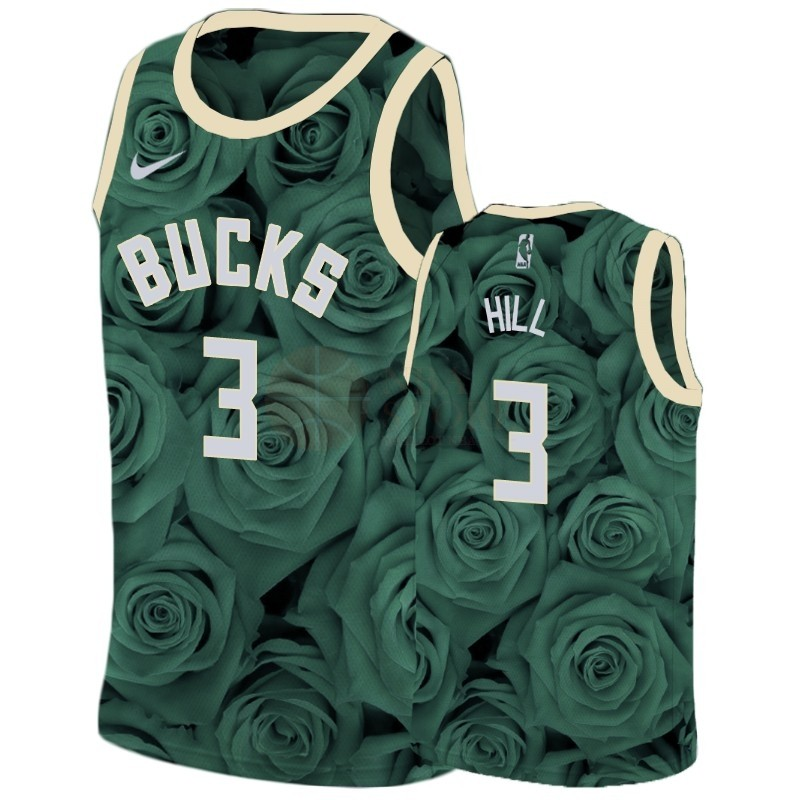 Classic Maillot NBA Nike Milwaukee Bucks NO.3 George Hill Vert