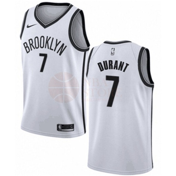 Classic Maillot NBA Enfant Brooklyn Nets NO.7 Kevin Durant Blanc Association 2019-20