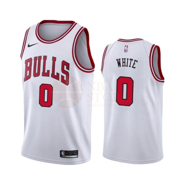 Classic Maillot NBA Nike Chicago Bulls NO.0 Coby White Blanc Association 2019-20