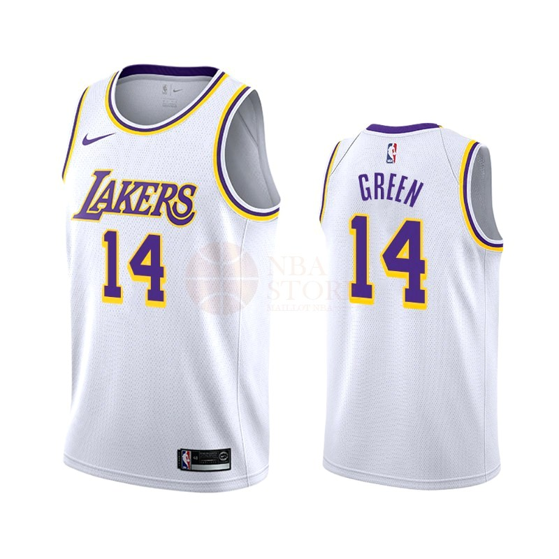 Classic Maillot NBA Nike Los Angeles Lakers NO.14 Danny Green Blanc Association 2019-20