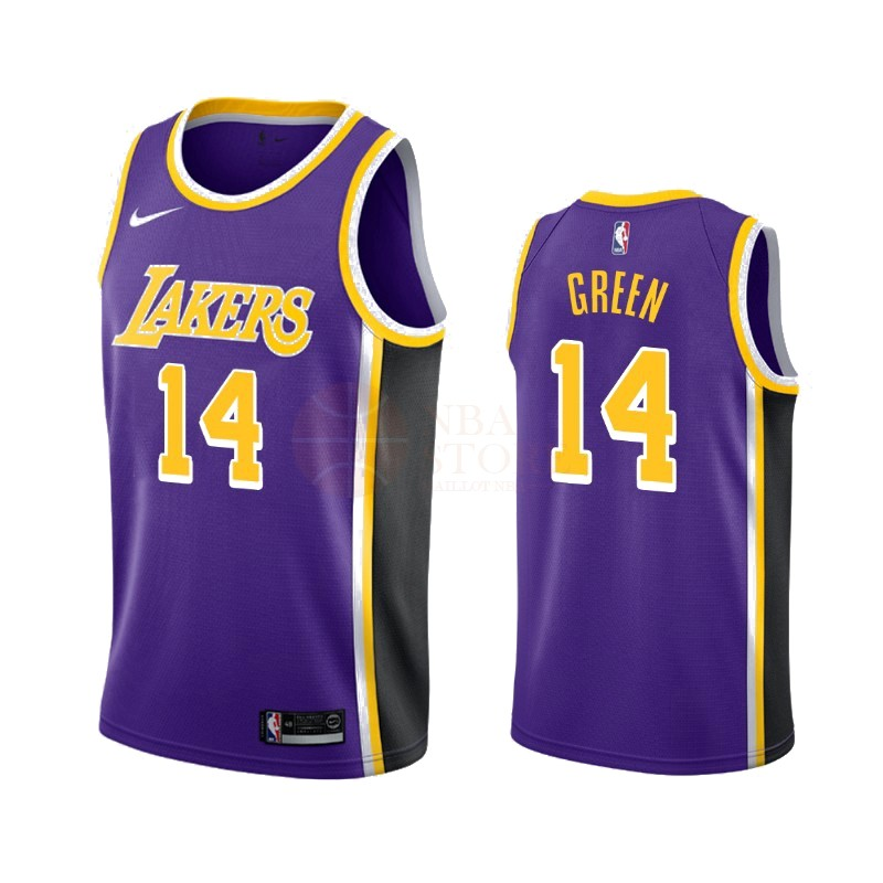 Classic Maillot NBA Nike Los Angeles Lakers NO.14 Danny Green Pourpre Statement 2019-20