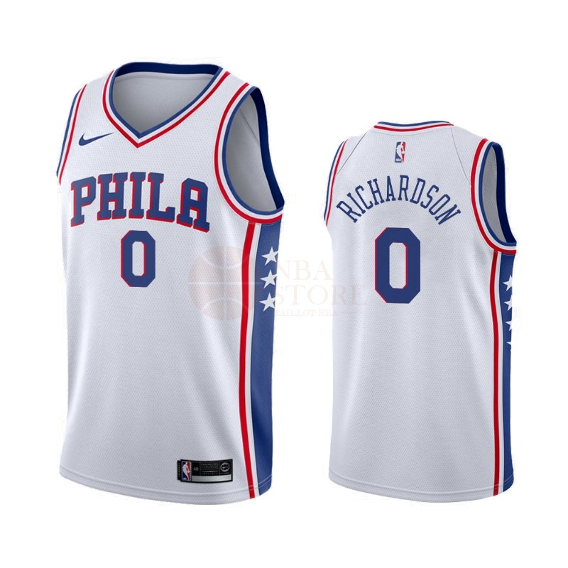 Classic Maillot NBA Nike Philadelphia Sixers NO.0 Josh Richardson Blanc Association 2019-20