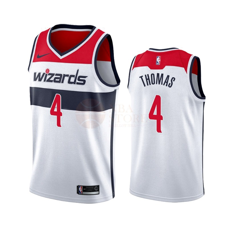 Classic Maillot NBA Nike Washington Wizards NO.4 Isaiah Thomas Blanc Association 2019-20